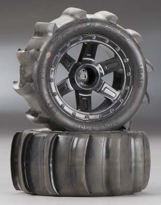 """Proline Sling Shot 2.2\"""" Sand Tires Mntd 1/16 E-Revo"""