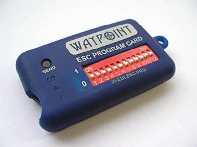 WayPoint Brushless Esc Programming Card For Waypoint ESC
