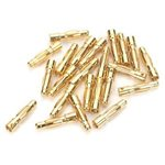 E-Flite Gold Bullet Connector, Male, 4mm (30)