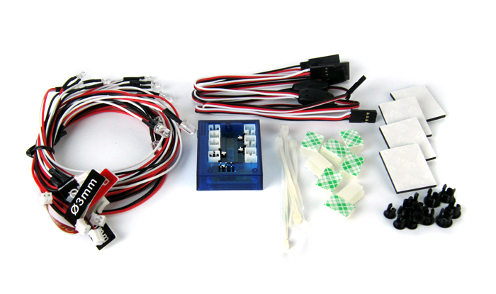 Common Sense RC LED Lighting Kit for Cars and Trucks 1/10th Scale and Smaller