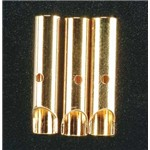 Great Planes Gold Plated Bullet Conn Female 4mm (3)