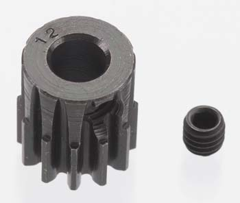 Robinson Racing Extra Hard 12 Tooth Blackened Steel 32P Pinion 5M/M