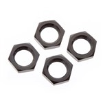 Wheel Nut Aluminum 17mm Black (4)