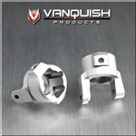Vanquish Products Axial SCX10 8 Degree C-Hubs Silver