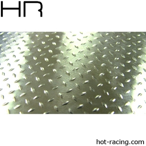 Hot Racing 1/10 Scale Aluminum Silver Diamond Plate 9x11