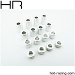 Hot Racing M3 3-9mm Aluminum Standoff Spacer (16)