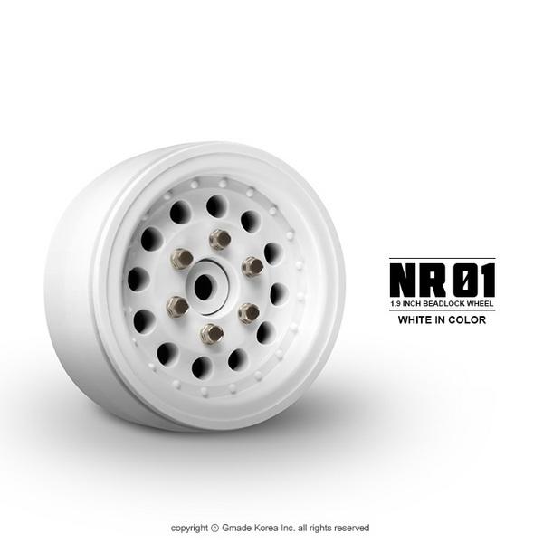 Gmade 1.9 Nr01 Beadlock Wheels (White) (2)