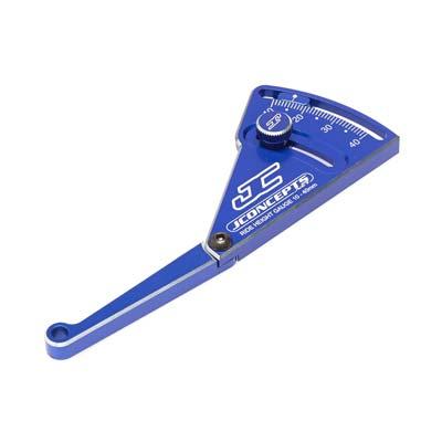 J Concepts Aluminum Ride Height Gauge 10-40mm Blue