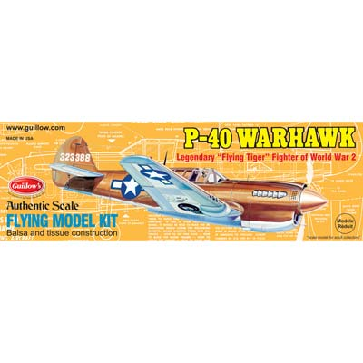 Guillow Model Kit WWII Model Warhawk