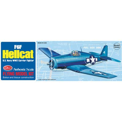 Guillow Model Kit WWII Model Hellcat
