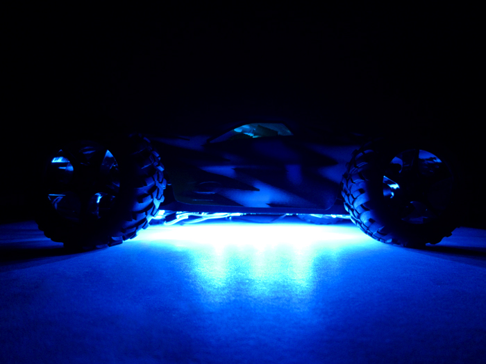 Common Sense RC Chassis Underglow LED Kit for RC Cars & Trucks - Blue