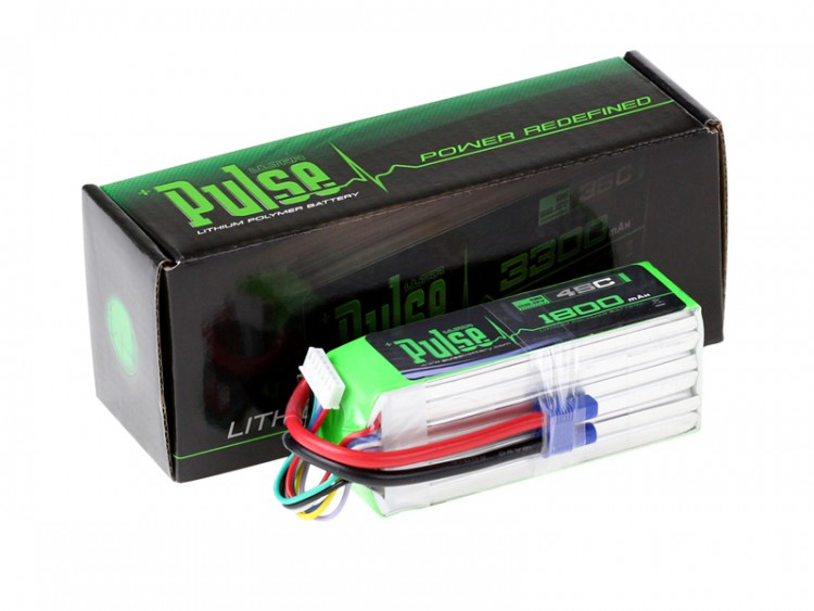 Pulse LIPO 1800mAh 22.2V 45C- ULTRA POWER SERIES (Battery for Goblin 3