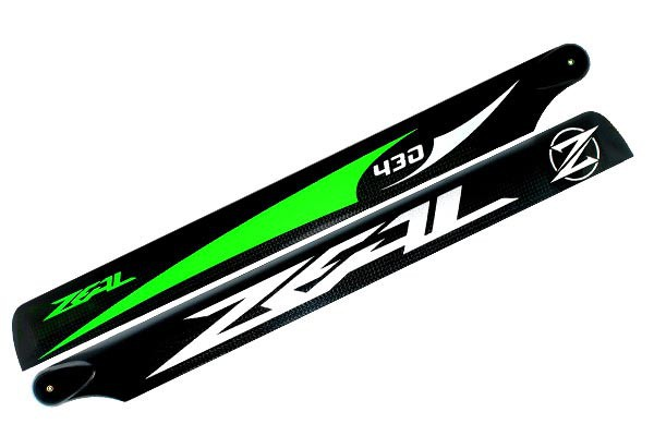 ZEAL Carbon Fiber main blades 430mm (Green)
