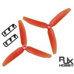 RJX ABS 5030 Three Blades Propeller CW&CCW (Orange)