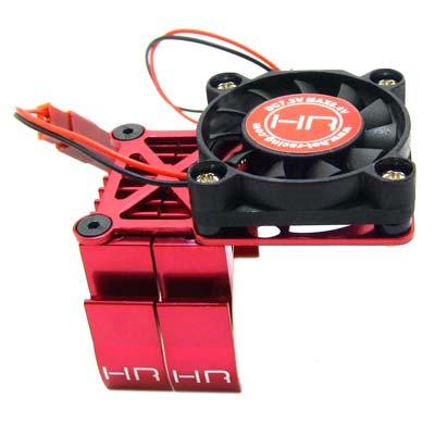 Hot Racing Red Multi Mount Fan Cool Heat Sink 36mm Motor