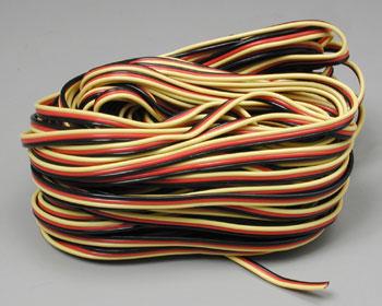 Hitec 59411 Servo Wire 50\' 3 Color