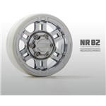 "Gmade Nr02 1.9"" Beadlock Wheels, Chrome (2)"