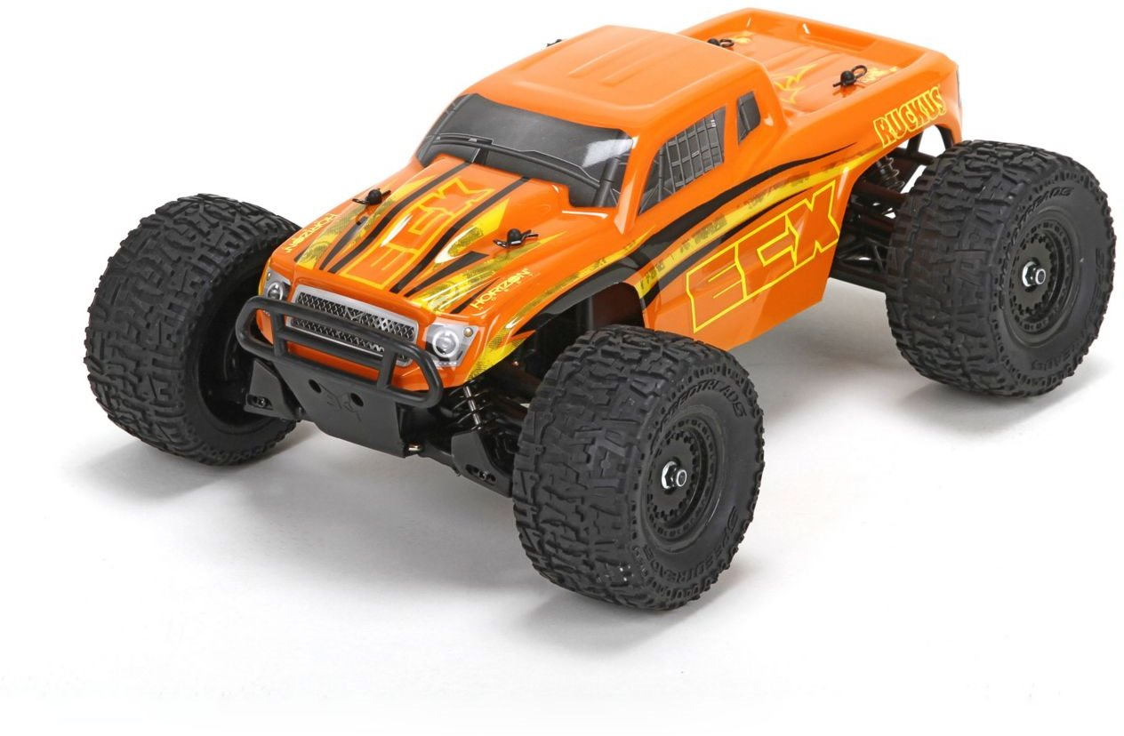 ECX Ruckus 1/18 4WD Monster Truck: Orange/Yellow RTR