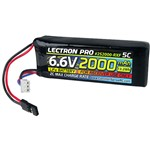 Common Sense RC Lectron Pro 6.6V 2000mAh 5C LiFe Receiver Flat Pack with Servo C