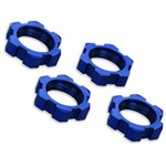 Traxxas Wheel Nuts, Splined, 17Mm, Serrated (Blue-Anodized) (4)