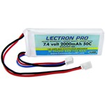 Common Sense RC Lectron Pro 7.4V 2000mAh 50C Lipo Battery with Mini Connector fo