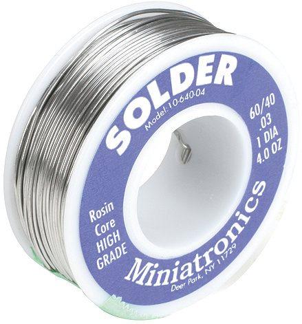 Miniatronics Rosin Core Solder 60/40, 4oz