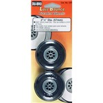 "Dubro Treaded Wheels 2-1/4"" (2)"