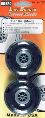 Dubro Treaded Wheels 2-1/2  (2)