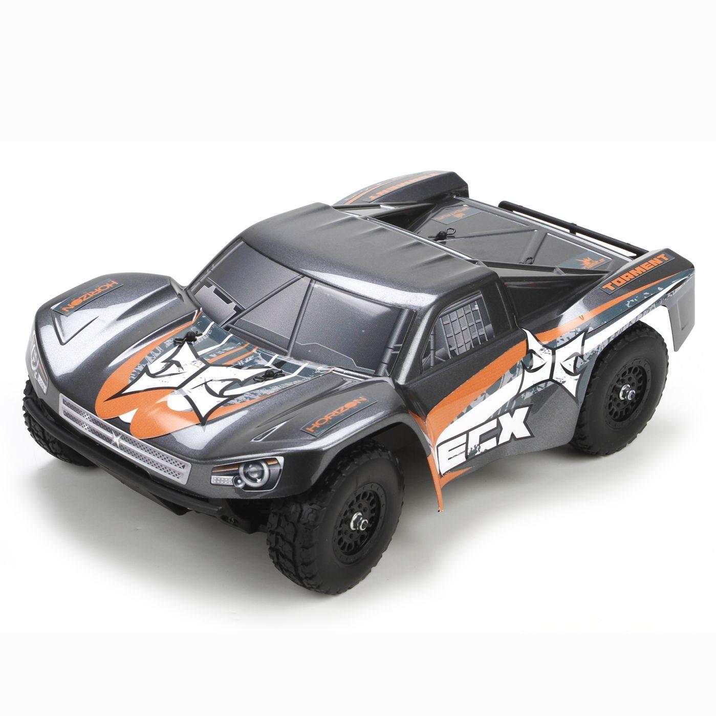 ECX Torment1/18 4WD Short Course Truck:Gray/OrangeRTR