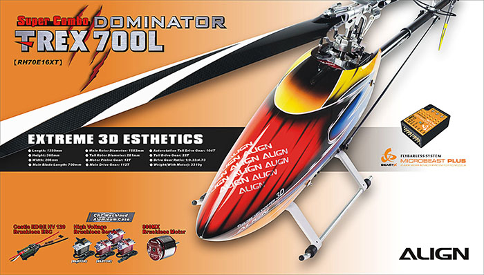 Align T-REX 700L Dominator HV Super Combo (Micro Beast)