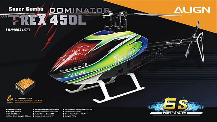 Align T-REX 450L Dominator Super Combo 6S(MicroBeast)