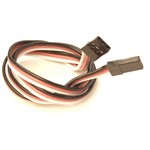 """Racers Edge 18"""" (458Mm) Universal Extension Lead W/ Male To Male Plug, 22Awg"""