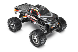 Traxxas Stampede 1/10 Monster Truck Black, Rtr W/Id Battery & 4 Amp Peak
