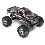 Stampede 1/10 Monster Truck Black, Rtr W/Id Battery & 4 Amp Peak