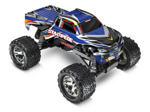 Traxxas Stampede 1/10 Monster Truck Blue, Rtr W/Id Battery & 4 Amp Peak