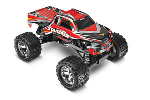 Traxxas Stampede 1/10 Monster Truck Red, Rtr W/Id Battery & 4 Amp Peak D