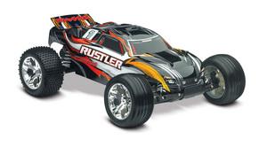 Traxxas Rustler 1/10 Stadium Truck Black, Rtr W/Id Battery & 4 Amp Peak