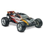 Rustler 1/10 Stadium Truck Black, Rtr W/Id Battery & 4 Amp Peak