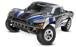 Traxxas Slash 1/10 2Wd Silver-Blue, Xl-5 Rtr W/2.4Ghz Radio - No Battery