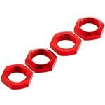 Aluminum Wheel Nut 17mm Red Nero (4)