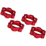 Traxxas Wheel Nuts Splined 17mm Serrated Red-Anodized X-M