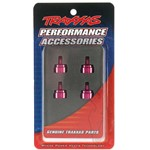 Traxxas Shock Caps, Pink Anodized Aluminum (4) Fits Ultra Shocks