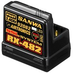 Sanwa RX-482 2.4GHz 4-Channel FHSS-4 SSL Telemetry Receiver   w/