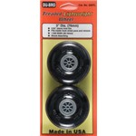 "Dubro Treaded Lite Wheels 3"" (2)"
