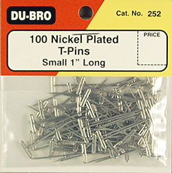 """Dubro T-Pins 1\"""" (100)"""