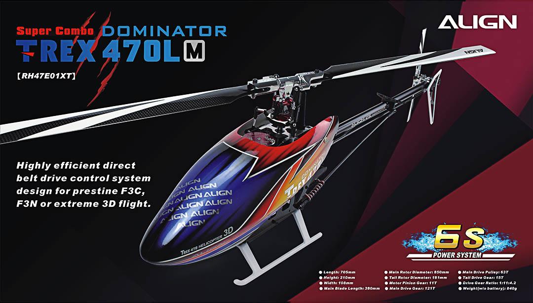 Align T-REX 470LM Dominator Super Combo