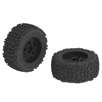 ARRMA dBoots Backflip MT 6S Tire Wheel Set