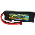 Lectron Pro 7.4V 5200mAh 35C Lipo Battery with Deans-Type Connec