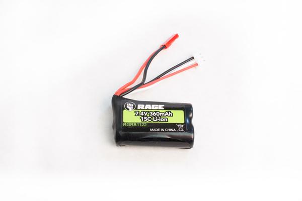 Rage RC Rage RC 7.4v, 360mAh Li-ion Battery Aqua Dart