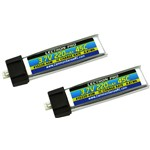 Lectron Pro 3.7V 220mAh 45C Lipo Battery 2-Pack for Blade mCX, m